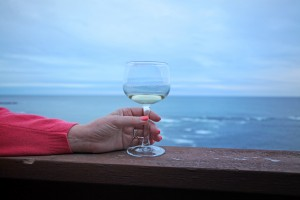 Surfrider Resort - Enjoy a Glass of Wine while taking in the view